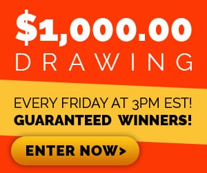 Weekly Sweepstakes $1000 Drawing